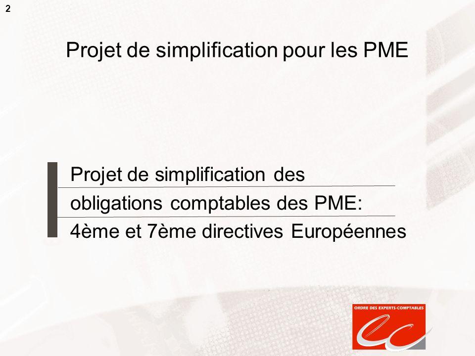 Projet de simplification pour les PME