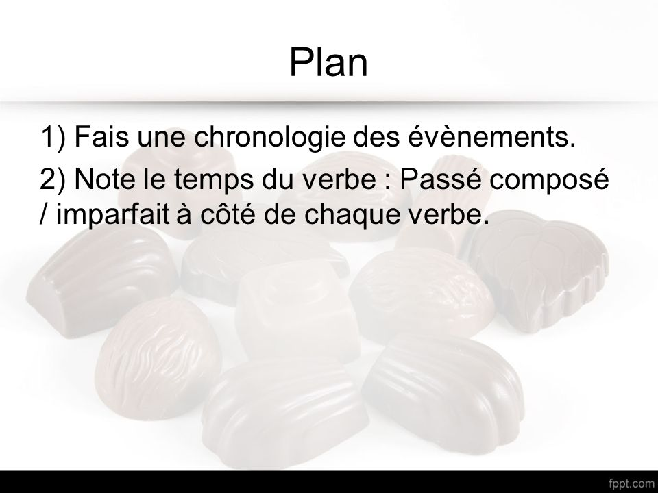Plan 1) Fais une chronologie des évènements.
