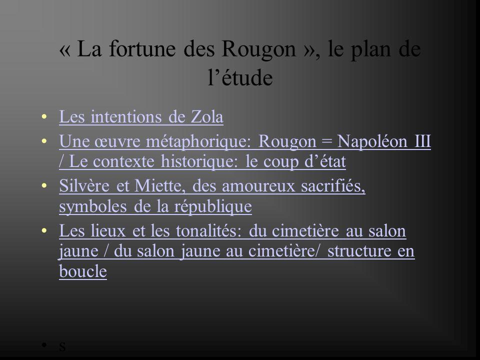 « La fortune des Rougon », le plan de l'étude
