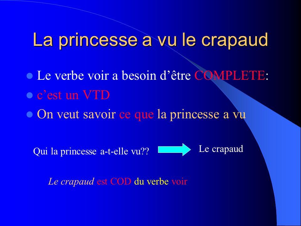 La princesse a vu le crapaud