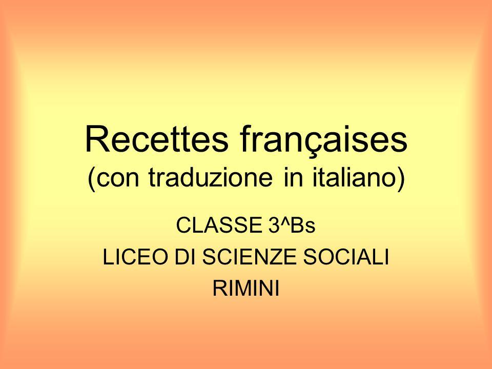 Recettes françaises (con traduzione in italiano)