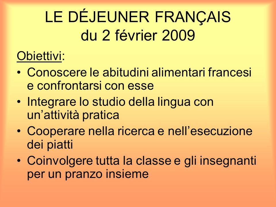LE DÉJEUNER FRANÇAIS du 2 février 2009