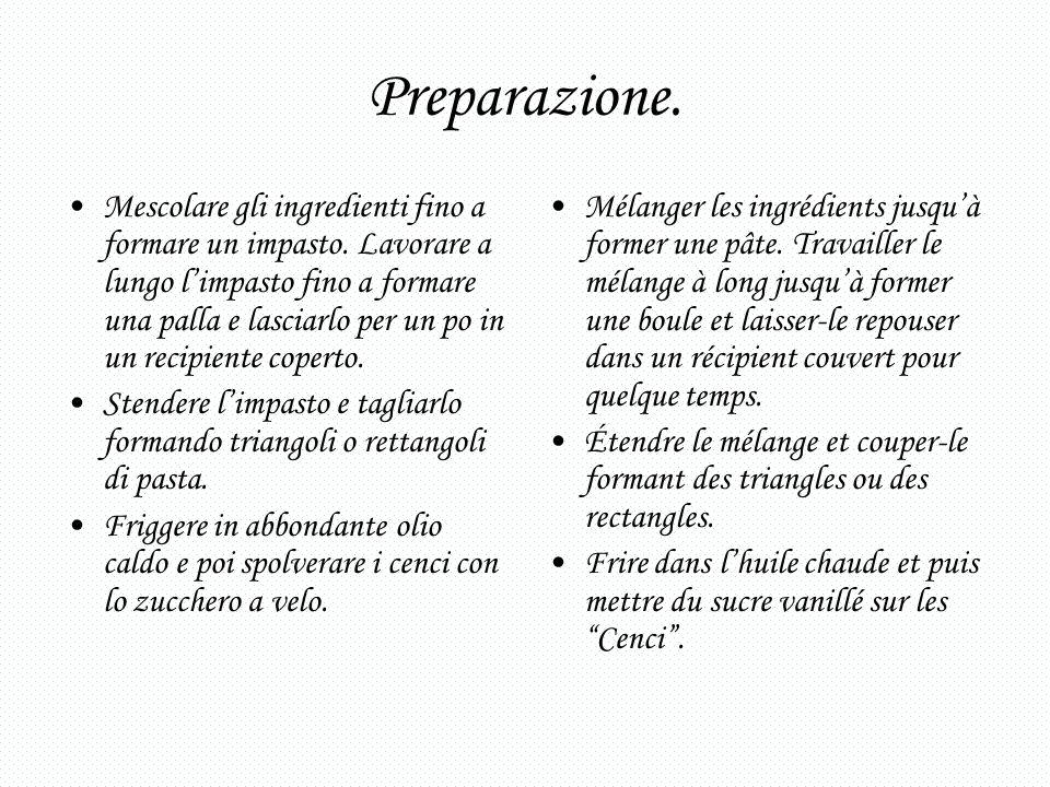 Preparazione.
