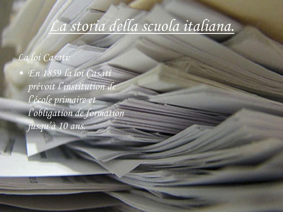 La storia della scuola italiana.
