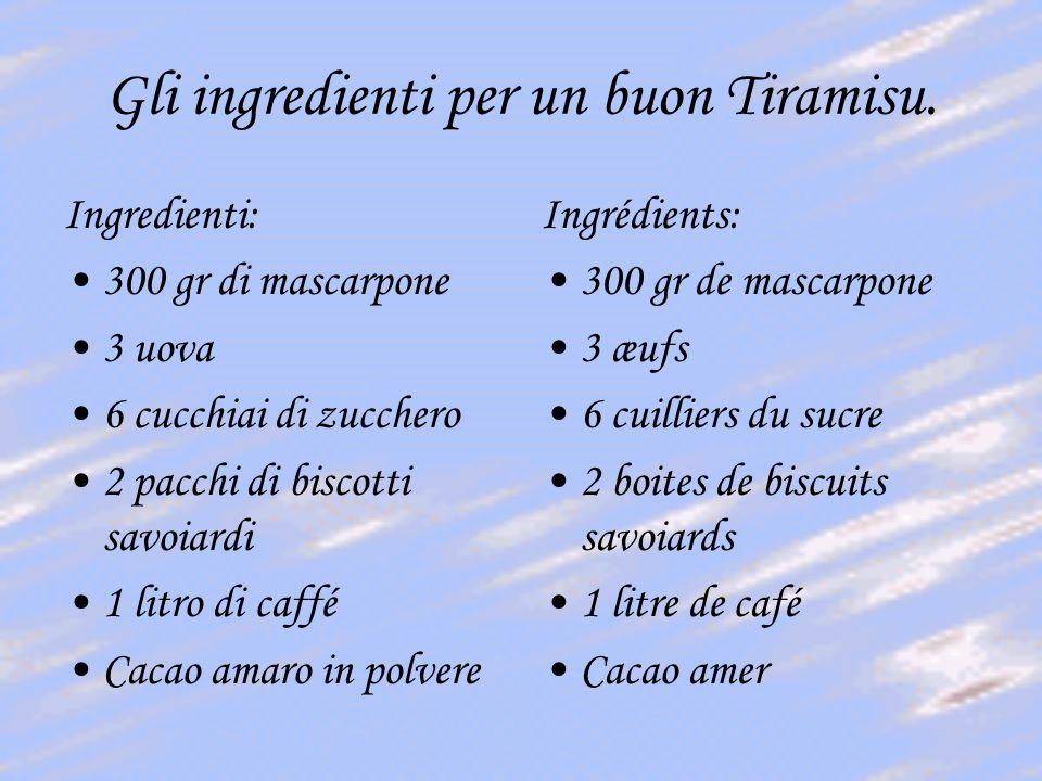 Gli ingredienti per un buon Tiramisu.