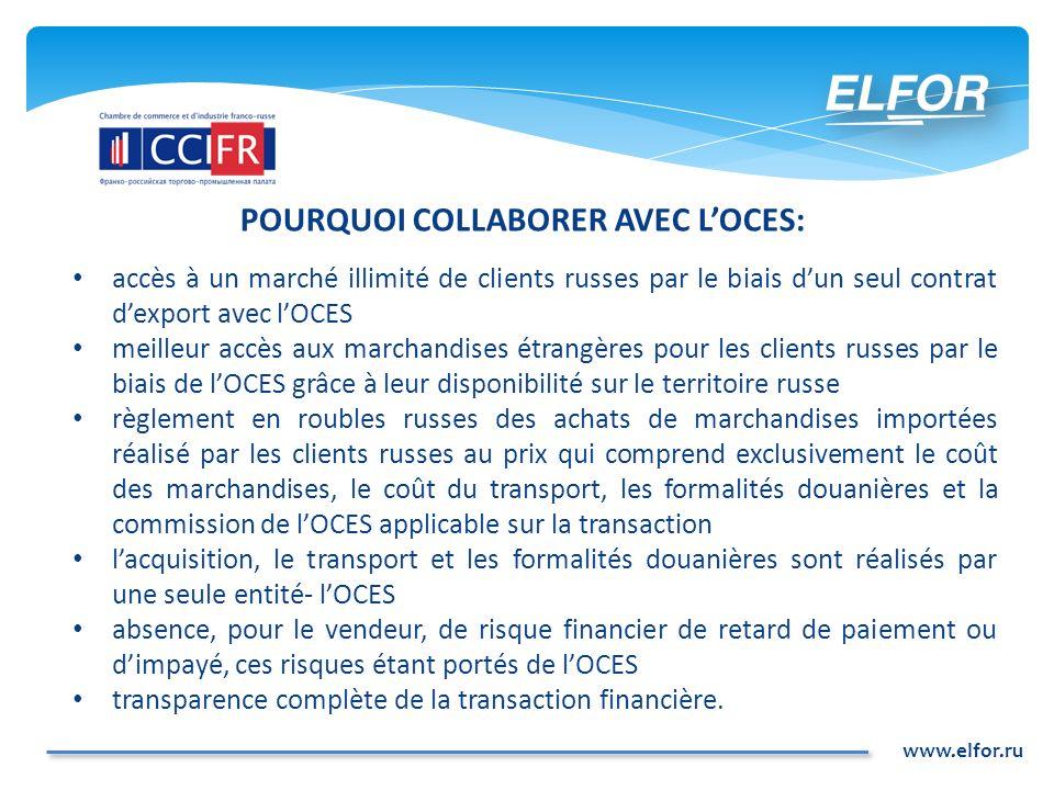 POURQUOI COLLABORER AVEC L'OCES: