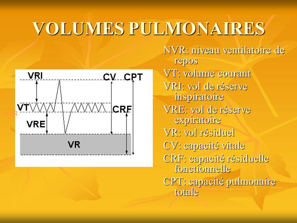 VOLUMES PULMONAIRES
