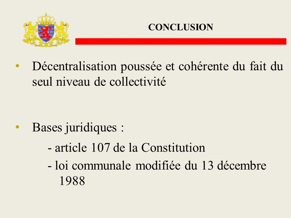 - article 107 de la Constitution