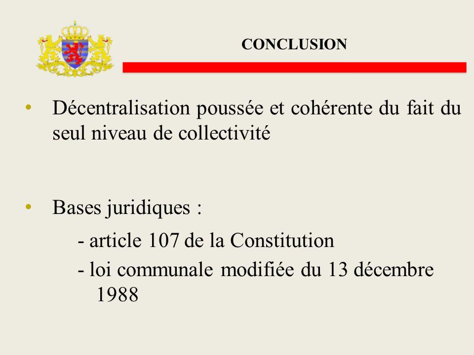 - article 107 de la Constitution