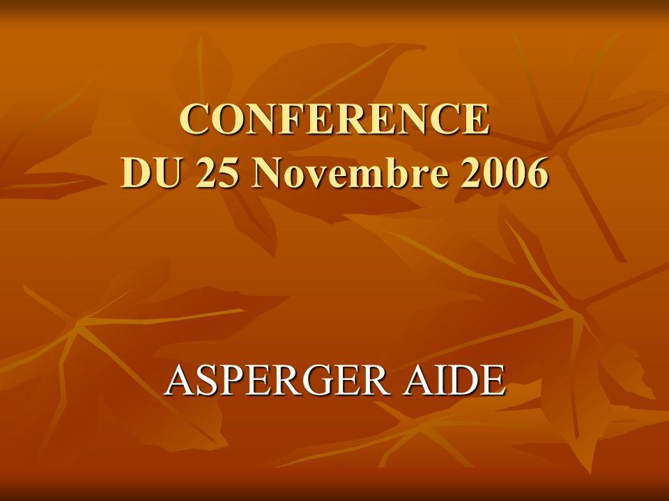 CONFERENCE DU 25 Novembre 2006
