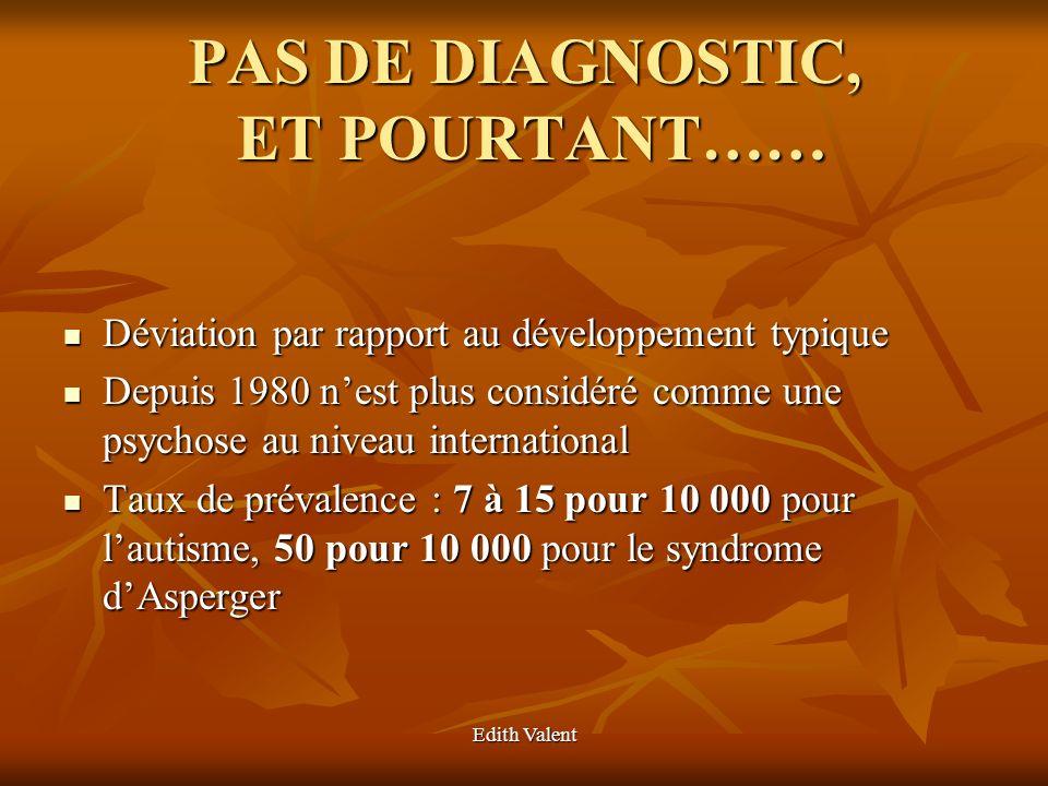 PAS DE DIAGNOSTIC, ET POURTANT……