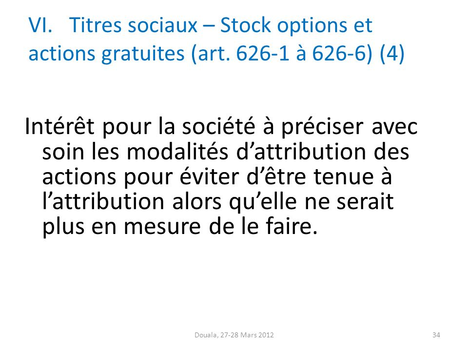 Stock options 28 septembre 2012