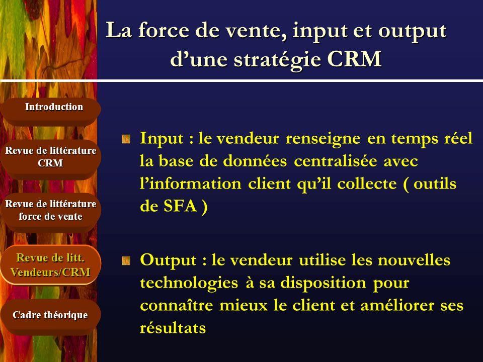 La force de vente, input et output d'une stratégie CRM