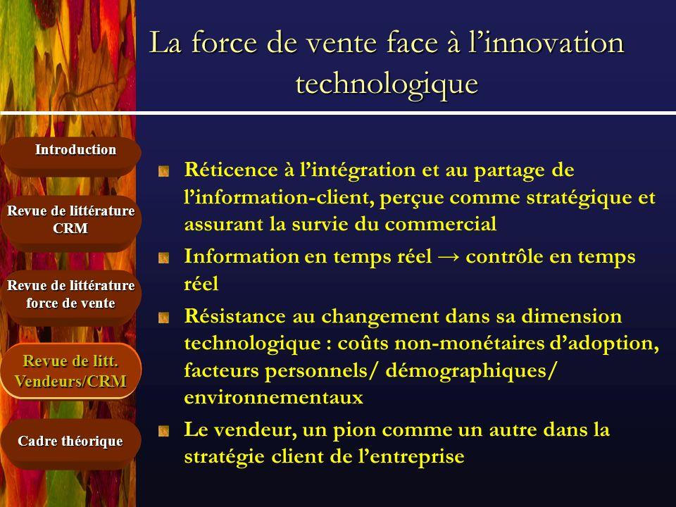 La force de vente face à l'innovation technologique