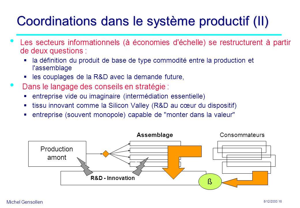 Coordinations dans le système productif (II)