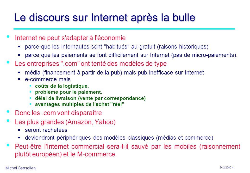 Le discours sur Internet après la bulle
