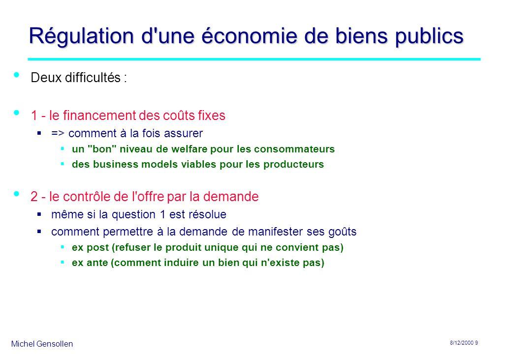 Régulation d une économie de biens publics