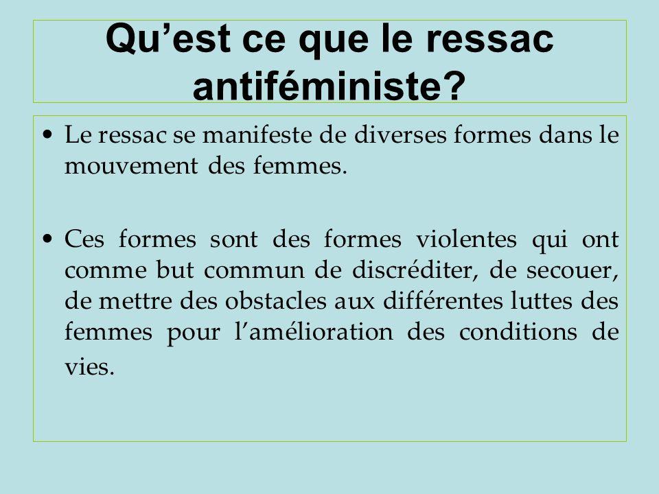 Qu'est ce que le ressac antiféministe