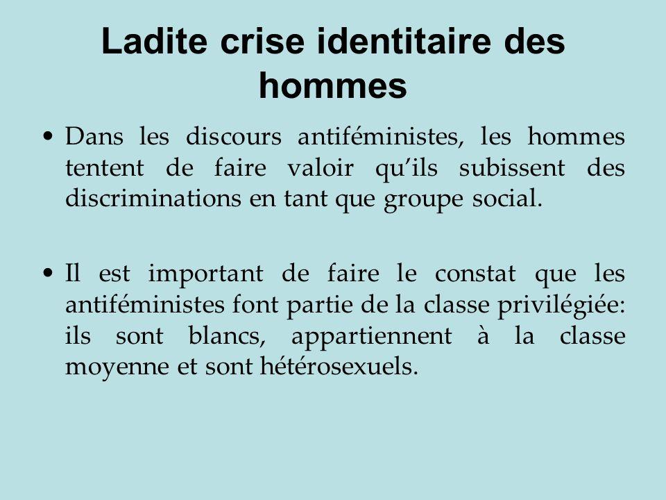 Ladite crise identitaire des hommes