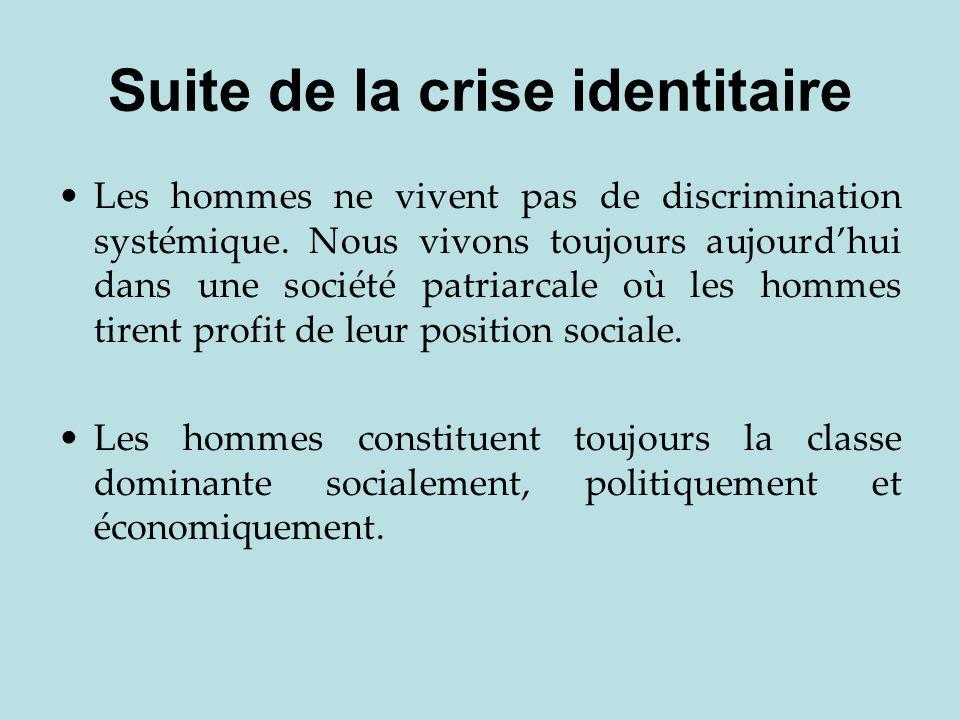 Suite de la crise identitaire