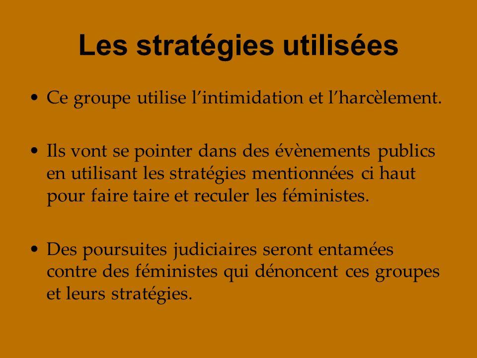 Les stratégies utilisées