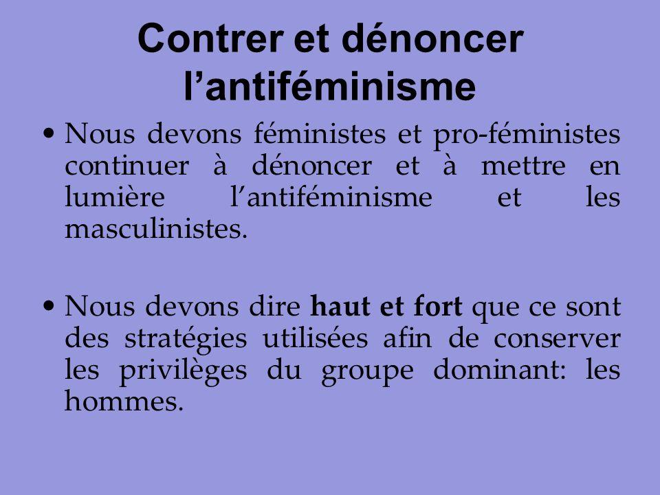 Contrer et dénoncer l'antiféminisme