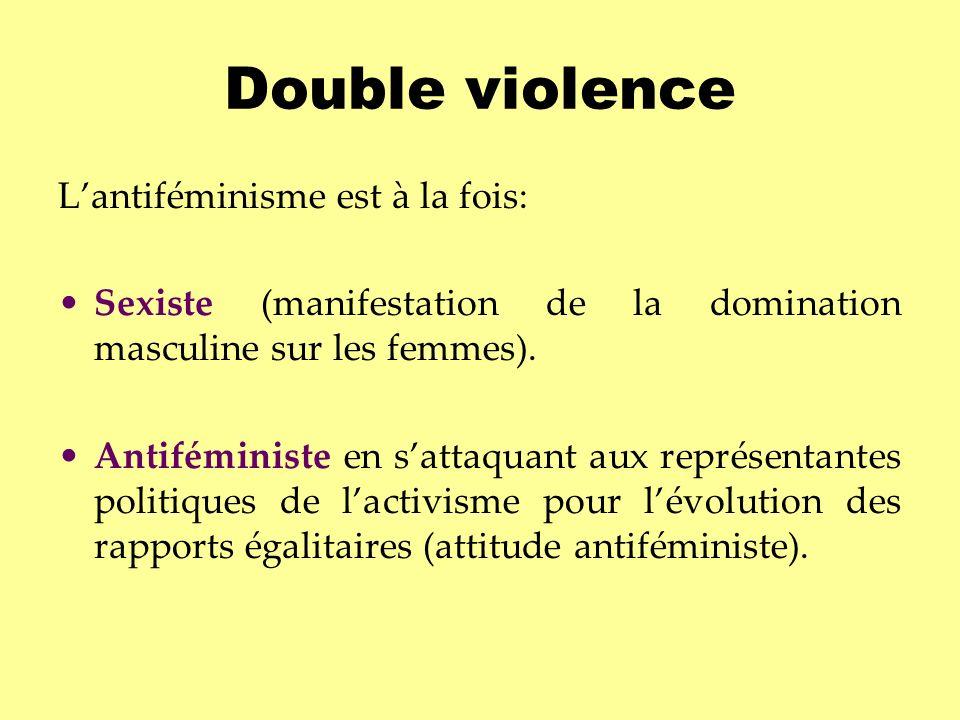Double violence L'antiféminisme est à la fois: