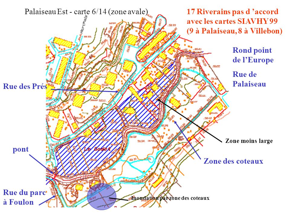 Palaiseau Est - carte 6/14 (zone avale)