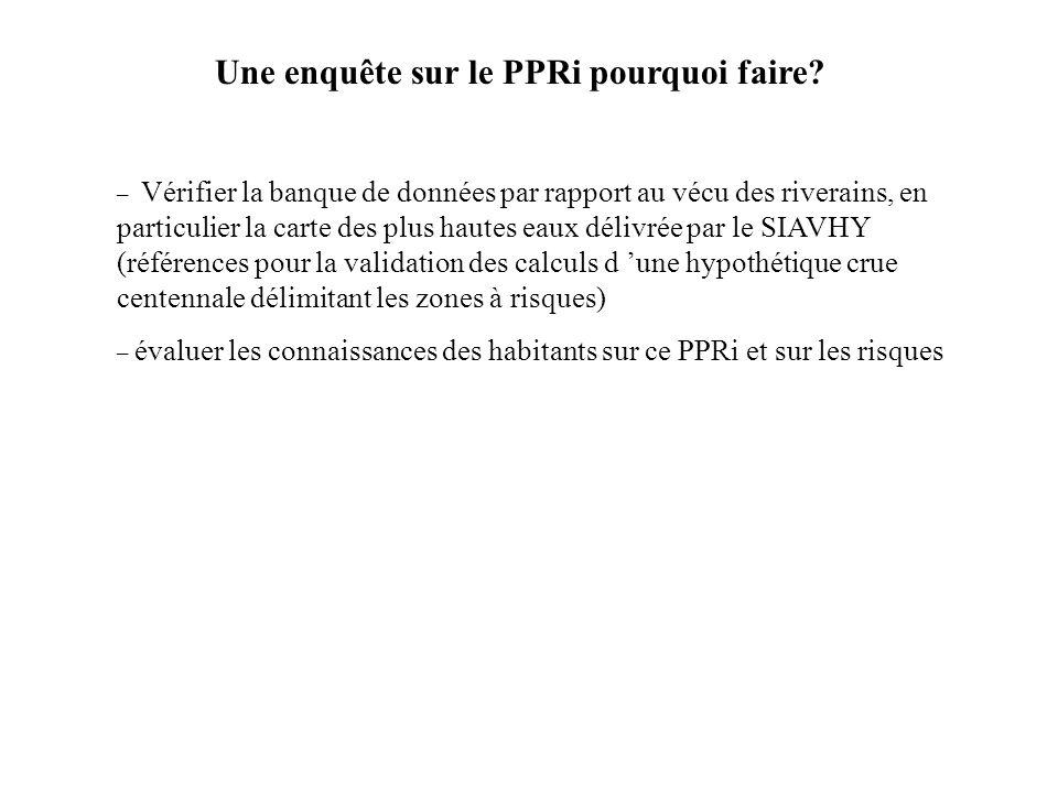 Une enquête sur le PPRi pourquoi faire