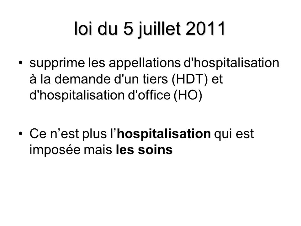 Hospitalisation sans consentement en psychiatrie ppt video online t l charger - Procedure hospitalisation d office ...