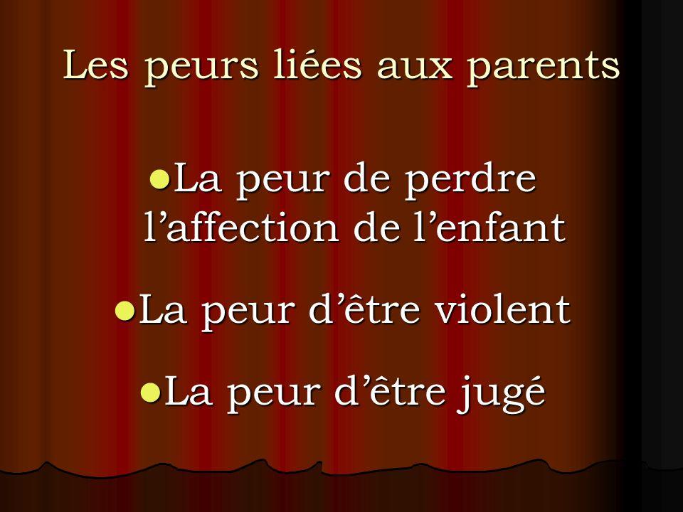 Les peurs liées aux parents