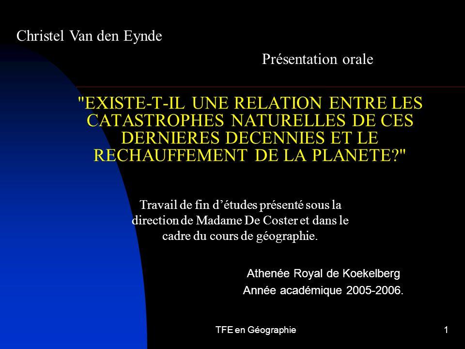 Christel Van den Eynde Présentation orale.