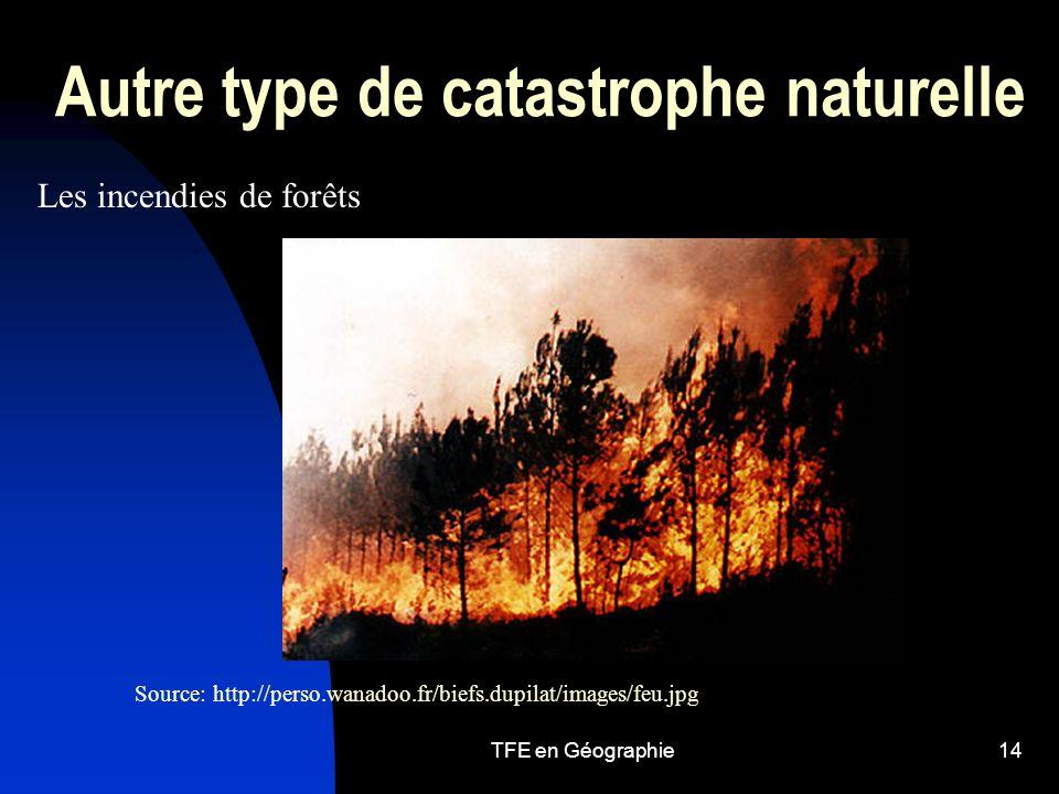 Autre type de catastrophe naturelle