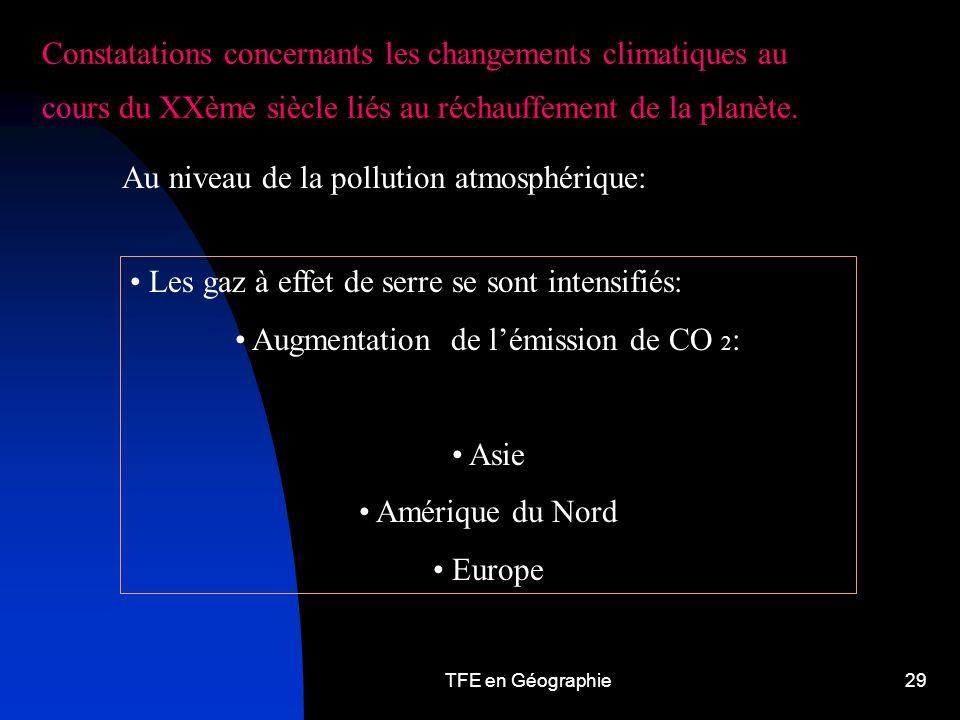 Augmentation de l'émission de CO 2: