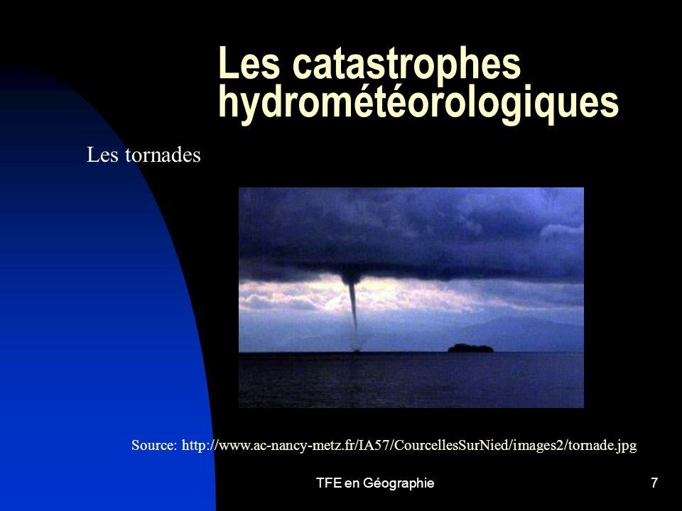 Les catastrophes hydrométéorologiques
