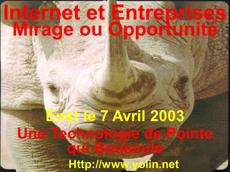 Internet et Entreprises Une Technologie de Pointe qui Bouscule