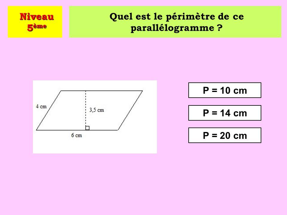 Quel est le périmètre de ce parallélogramme