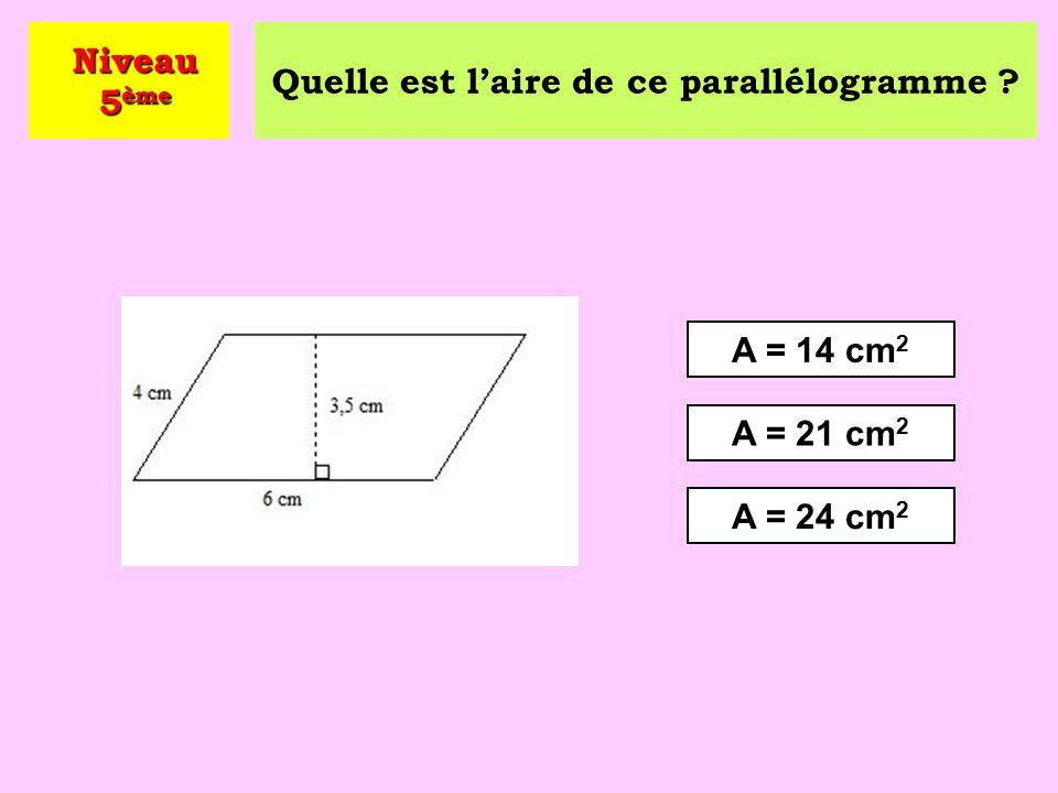 Quelle est l'aire de ce parallélogramme