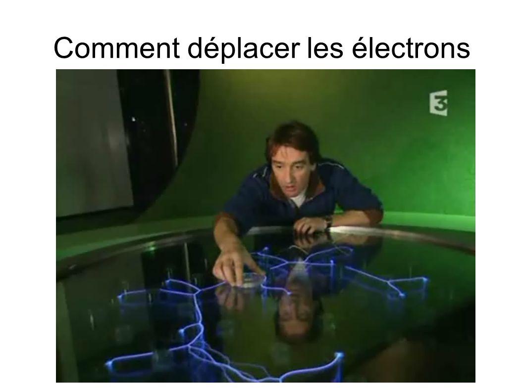 Comment déplacer les électrons