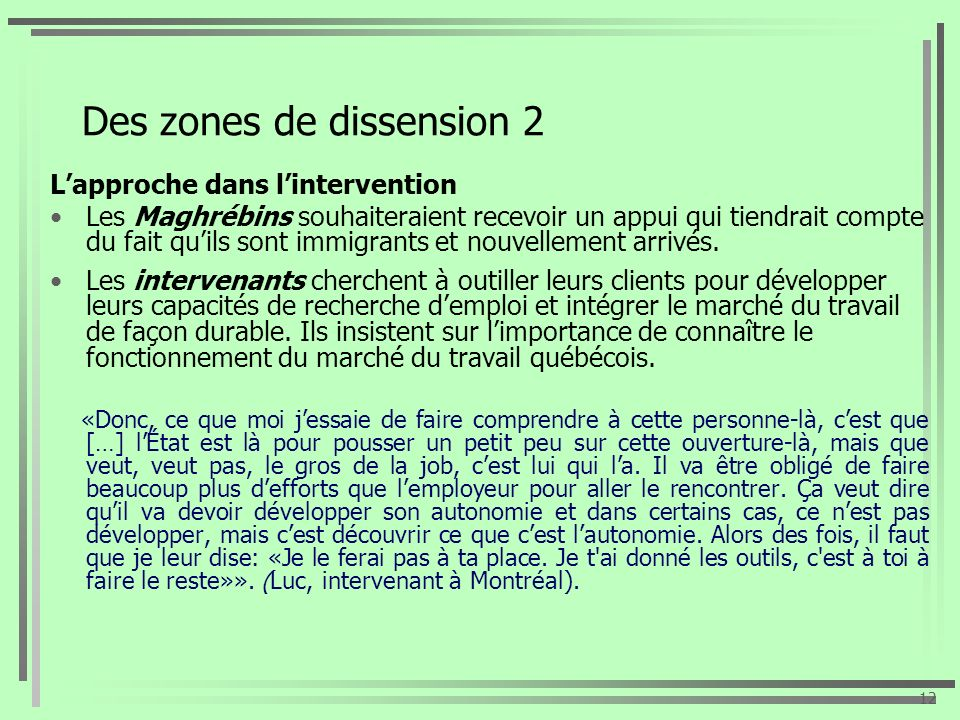 Des zones de dissension 2