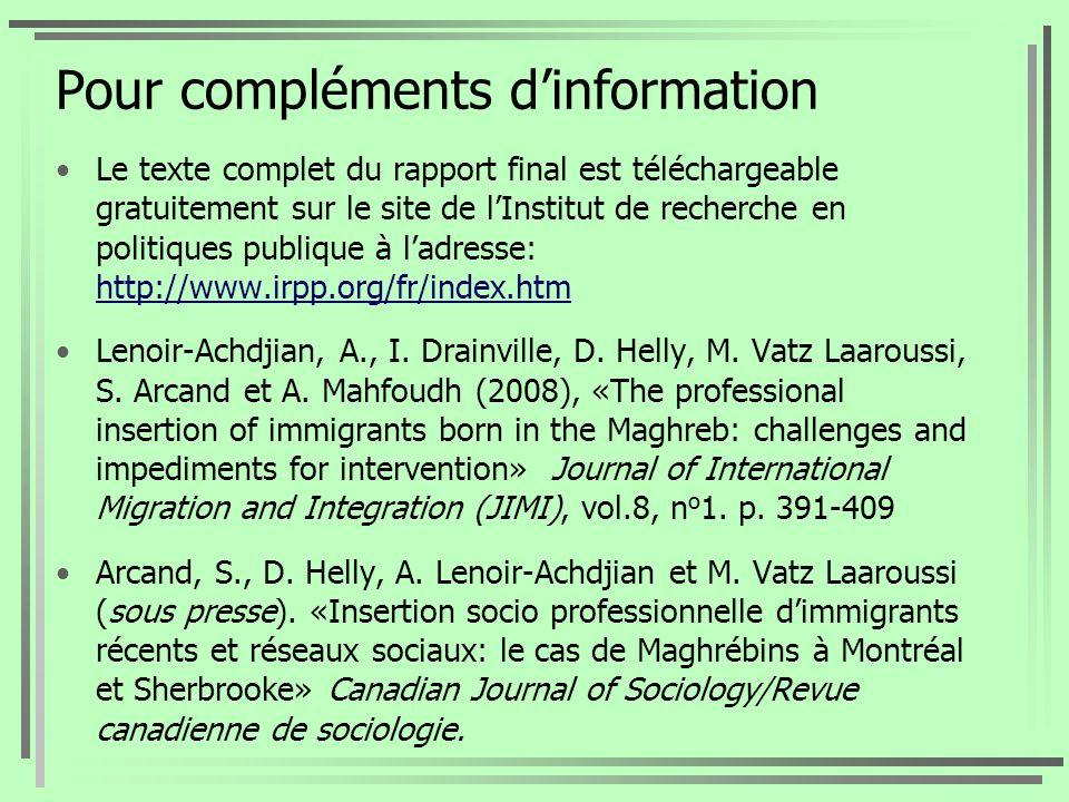 Pour compléments d'information
