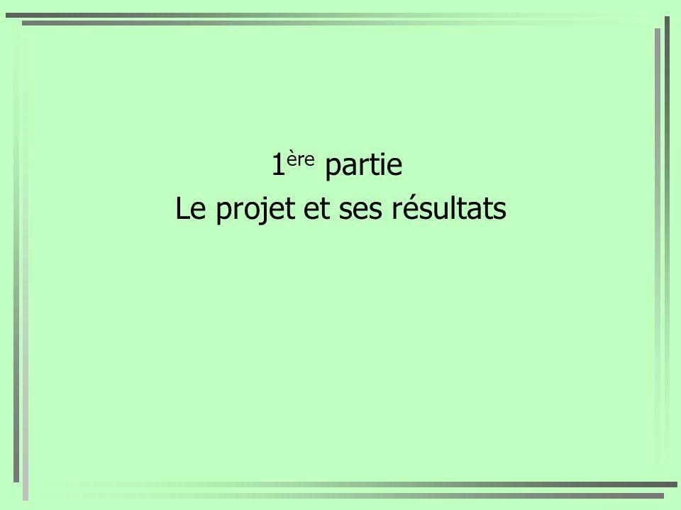 Le projet et ses résultats