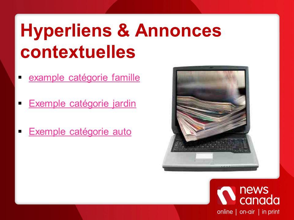 Hyperliens & Annonces contextuelles