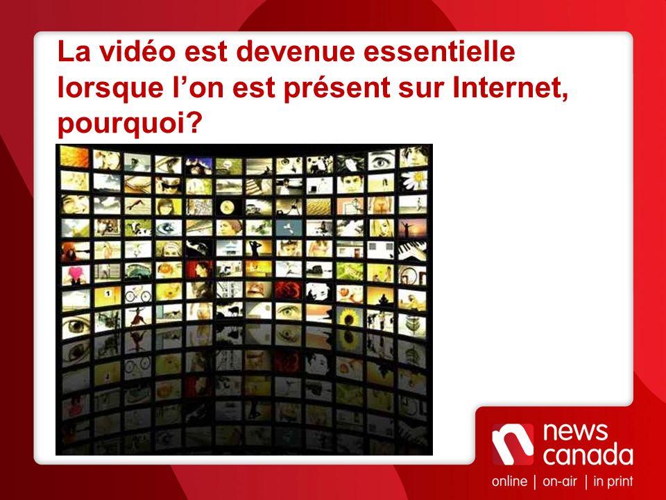 La vidéo est devenue essentielle lorsque l'on est présent sur Internet, pourquoi