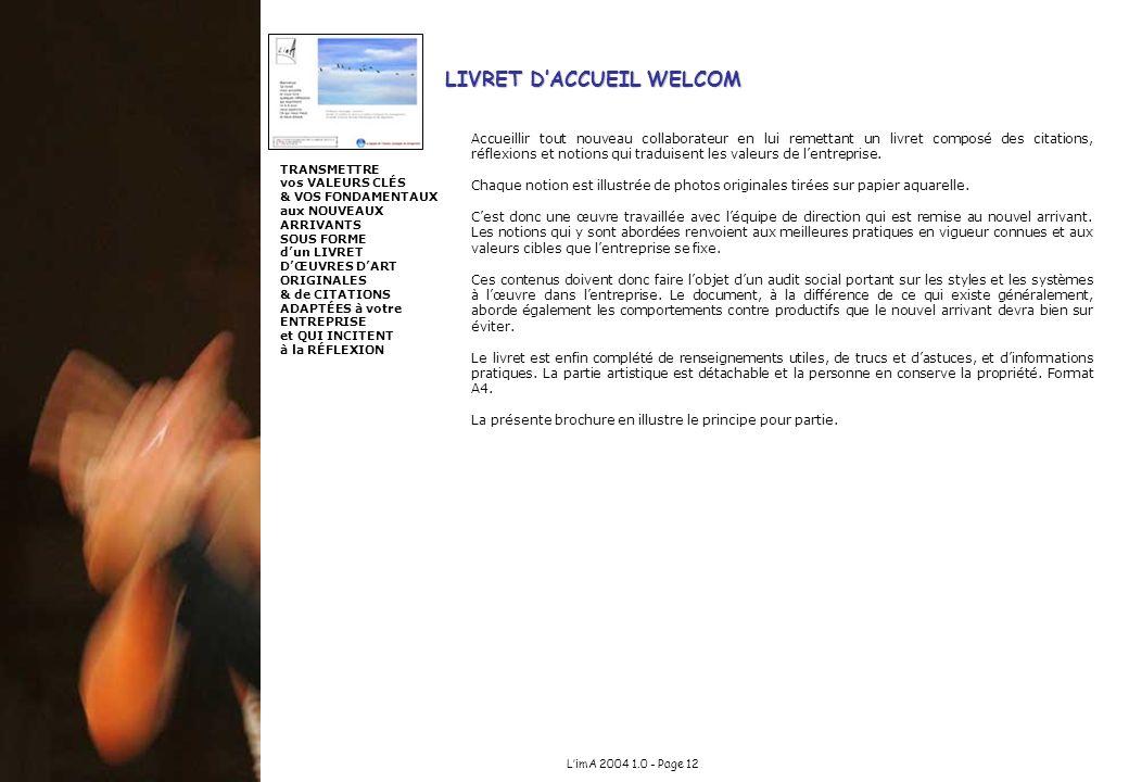 LIVRET D'ACCUEIL WELCOM