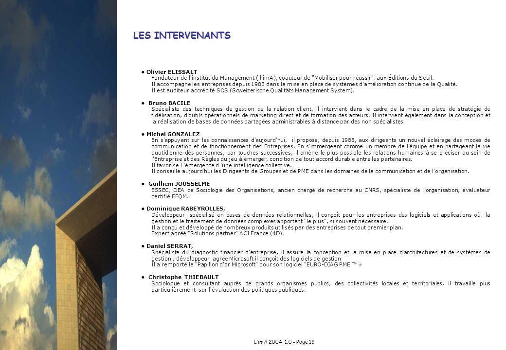 LES INTERVENANTS • Olivier ELISSALT
