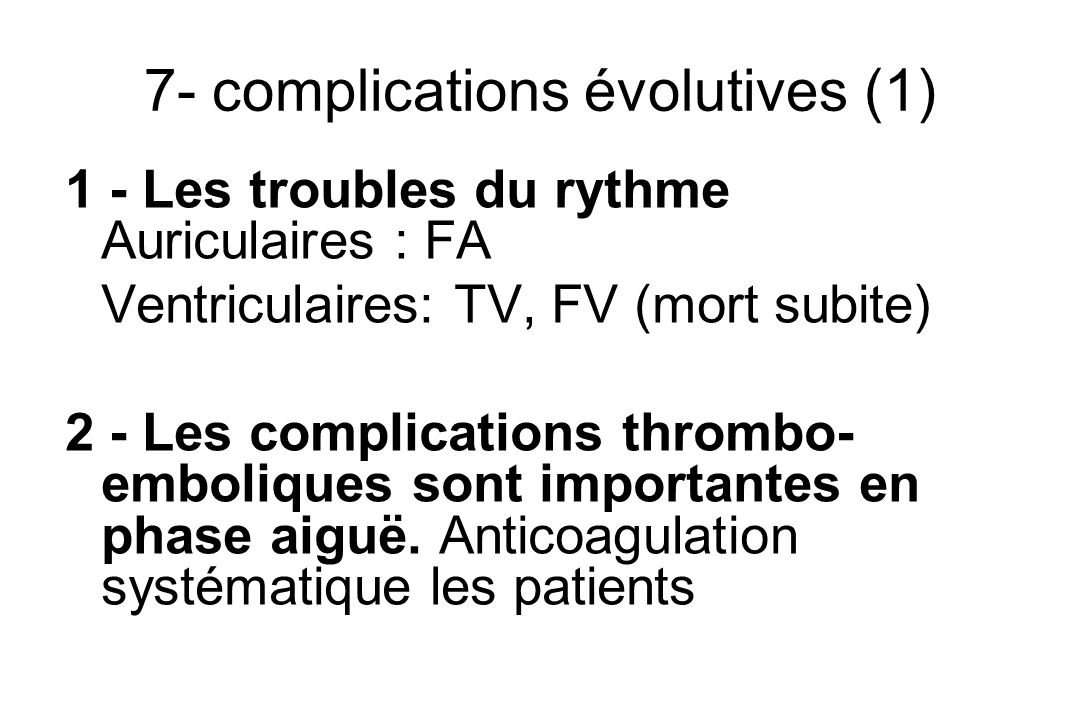 7- complications évolutives (1)