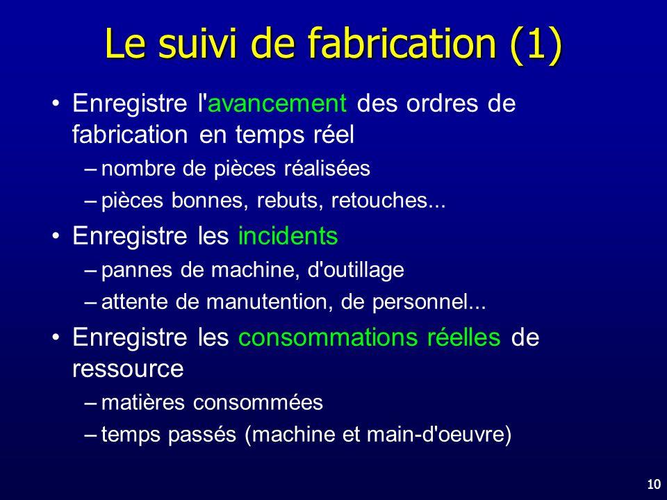 Le suivi de fabrication (1)