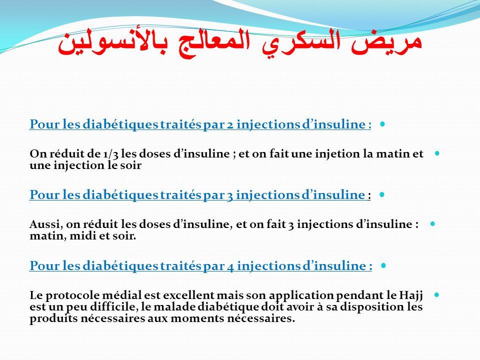 مريض السكري المعالج بالأنسولين