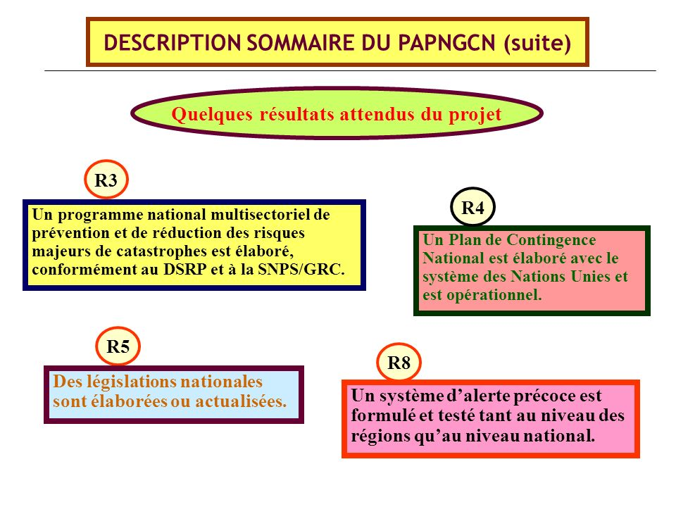 DESCRIPTION SOMMAIRE DU PAPNGCN (suite)